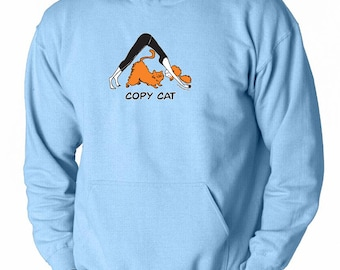 Yoga Clothing For You Mens Copy Cat Hoodie - PC90H-CAT
