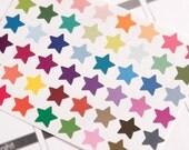 48 matte solid star stickers, life planner stickers, scrapbook sticker, reminder checklist sticker, star label