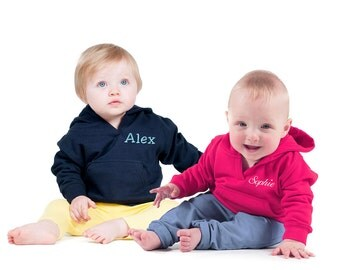 Personalised Embroidered Baby Toddler's Hoodie, 6mths - 4ys, Baby Gift