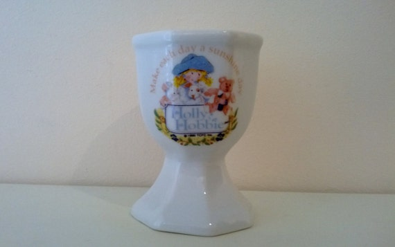 Vintage holly hobbie egg cup 1990 home decor by billingsleyson for Home decor 1990s