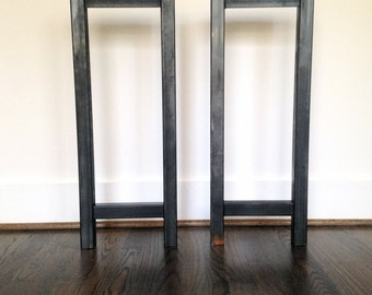Steel Console Table Legs - Steel Table Legs - Multiple Widths - Metal Table Frame