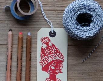 Nordic Snowflake – gift tag