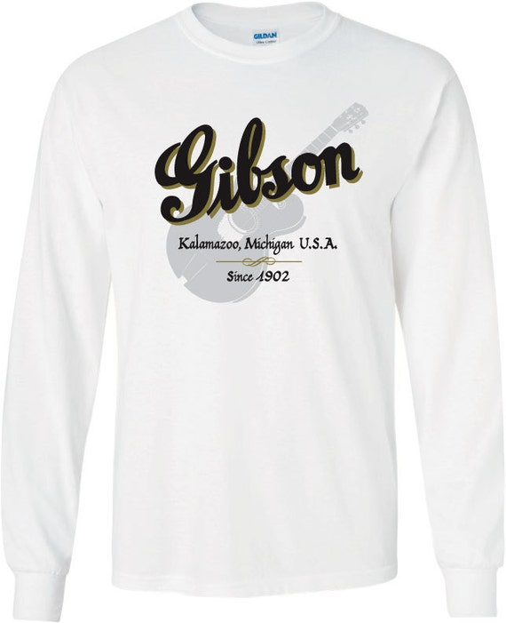 Gibson guitars tee for T shirt printing kalamazoo