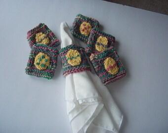 Knit Easter Egg Napkin Rings