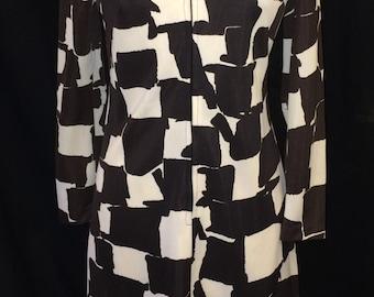 Vintage Mod Mad Men Geometric print dress