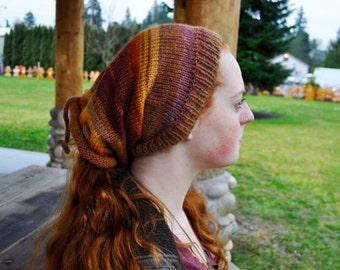 Campfire Shape-Shifter: Dread Beanie Hat Scarf