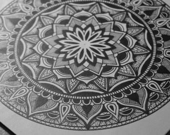 "Mandala Art Print Signed Limited Edition ""Sonia"" Sacred Geometry Zentangle Decoration Poster"