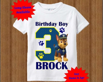 Paw Patrol Birthday Shirt - Chase