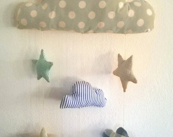MOBILE cloud for baby room decoration