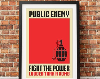 "Original Print Inspired by Public Enemy's ""Fight The Power"""