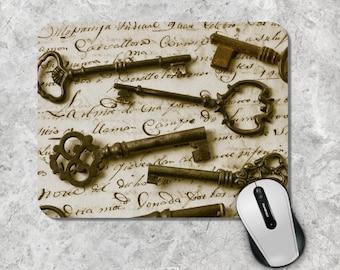 Vintage Mousepad / Mouse Pad - Keys, Handwriting