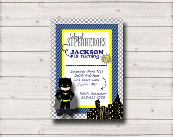 Batman Birthday Invitation - Printable Inv002Batman