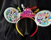 Sparkle Birthday mouse ears headband