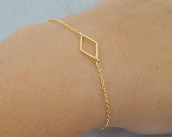 14k Gold fill Diamond Gold Bracelet, Dainty Bracelet, Tiny Diamond Bracelet, Lyering Bracelet, Geometric Bracelet LAminiJewelry