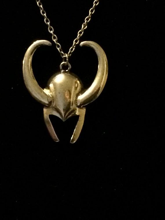 loki helmet necklace