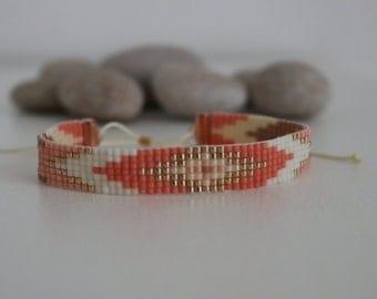 Beads miyuki woven pattern Navajo bracelet