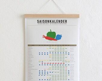 Set / season calendar + poster Strip oak A3