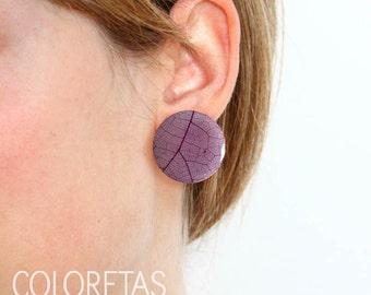 Purple Ivy earrings