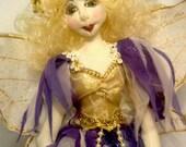 "E- PATTERN to make ALURA, hanging fairy- 35 cm (14"") Tall, Doll making, Kids craft, Cloth doll, Tutorial, Bambole, textiles, Instructional"