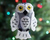 Snowy Owl Ornament PDF PATTERN