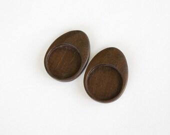 """Neatly finished hardwood bezels - Walnut - 1"""" - 25.5 mm - (E4-W) - Set of 2"""
