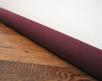 BURGUNDY draft guard, custom length door draft stopper, draft snake // burgundy canvas
