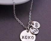 XO Necklace, Hugs and Kisses Jewelry, Valentine's Day Jewelry Gift for Girlfriend