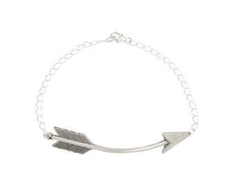 Silver Arrow BRACELET with Sterling Silver Chain SALE