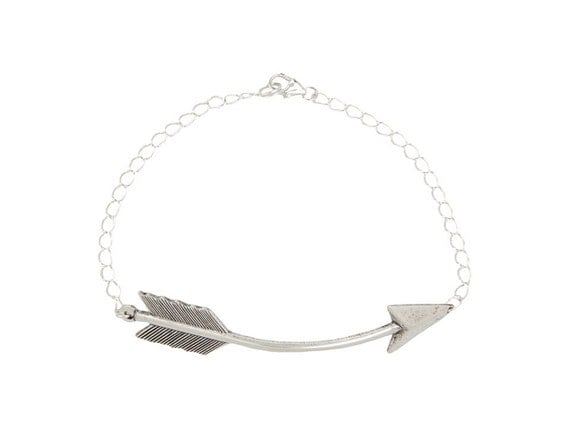items similar to silver arrow bracelet with sterling