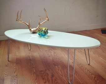 Eliptikal coffee Table Surfboard Eames Era Modern New