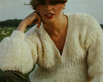 Knitting Patterns Astrakan Fashion Hand Knits Emu Women Sweater Cardigan Beret Vest Hat Jacket Vintage Paper Original NOT a PDF