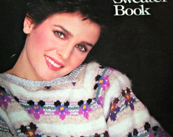Sweater Knitting Patterns The Sasha Kagan Sweater Book Men Women Children Hat Vest Cardigan Vintage Paper Original NOT a PDF