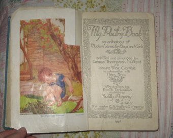 Vintage 1948 My Poetry Book Anthology Grace Thompson Huffard Illustrated by Willy Pogany