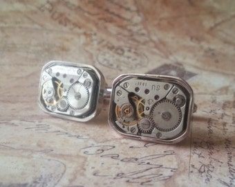 TIME PIECES - Watch Movement Cuff Links