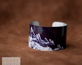 Pelican Flight Cuff, Photographic Bracelet, Metal Adjustable Cuff Bracelet, Large Statement Bracelet