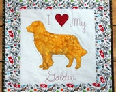 CUSTOM ORDER Dog Silhouette Quilted Wall Hanging, Any Dog Breed