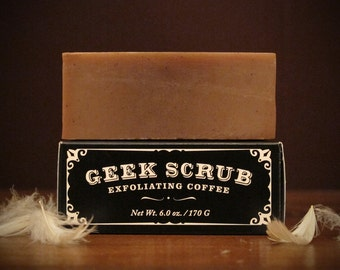 The Original Geek Scrub Soap Bar - Exfoliating Coffee