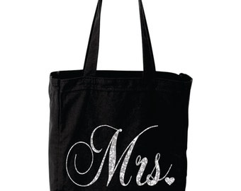 MRS glitter wedding bag great gift for the newly wed