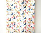 Sails Tea Towel of linen and cotton. Triangles, Pattern, and Bright Colors.