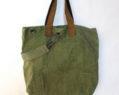SALE 50% OFF REID (damnit) Constructed Army Tote #1