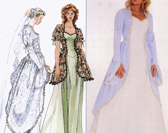 Begotten Wedding dress Historical style gown Simplicity 8623 90s sewing pattern Bust 34 to 38