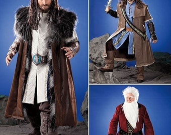 Simplicity 1552-Lord of the Rings- The Hobbit Costume-XS-XL