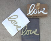 HALF PRICE SALE - Love Dish Towel Set of 2 with Gift Box