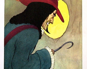 Peter Pan - Captain Hook - 1957 Vintage Book Page - Illustrated by Marjorie Torrey