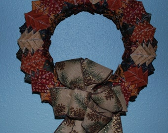 Fabric Square Wreath, Door, Wall Decoration