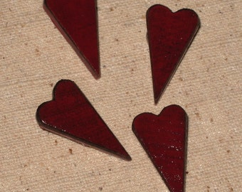 Primitive Country Antiqued Heart Push Pins