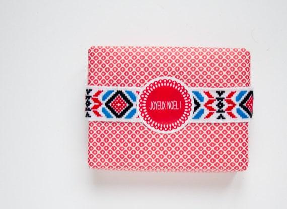 "10 Joyeux Noel Red Stickers - Circle 1.7"" - French christmas"