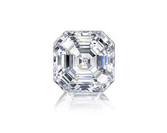 1ct Diamond D VVS1 GIA Certified Loose Diamond Asscher Cut Square Emerald Cut Conflict Free Diamond