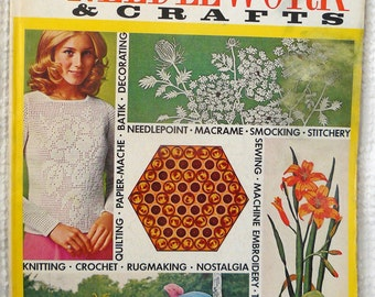 Vintage McCalls Needlework and Crafts Magazine - Spring Summer 1972 - fantastic images