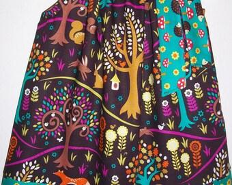 Pillowcase Dress with Fox Norwegian Woods Michael Miller Spring Dress with Hedgehogs Forest Animals Dress baby dress toddler dress